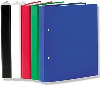 2-Ring Ordner 5x Ringbuch rot Farbe DIN A4