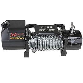 Tuff Stuff Overland 12,500 LB Winch W/ 88 fT Wire Waterproof Xtreme