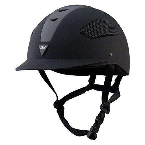 Irh Ath Helmet (IRH Elite ATH Helmet - Size:7 1/2 Color:Black/Black)