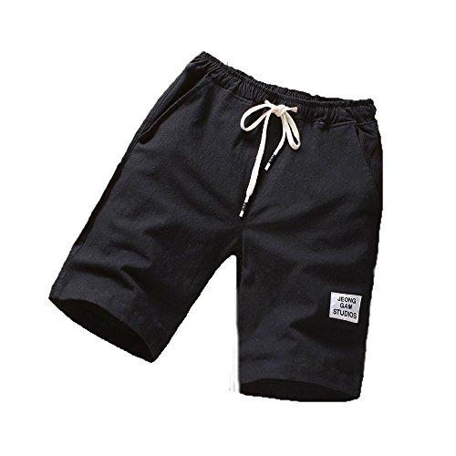 De Été Fitness Respirants Pantalons Plage Running Noir Mode Hommes Sport axv4fqx