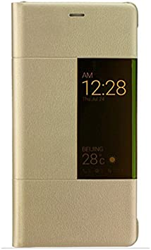 Huawei P9 Plus Case View - Funda con ventana oficial para Huawei P9 Plus, dorado: Amazon.es: Electrónica