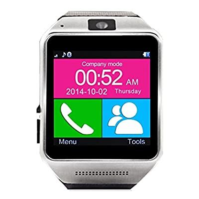 VIGICA Steel Bluetooth Smartwatch Wrist Wrap Watch Phone Mate Black GV08