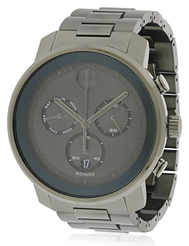 Movado Bold Chronograph Mens Gunmetal Watch 3600486