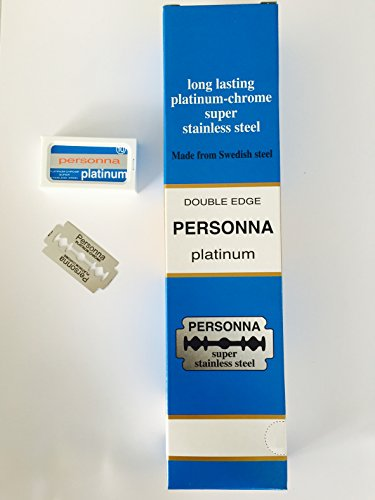 (200 TWO HUNDRED Personna Platinum Double Edge Razor Blades - Made from Swedish Steel)