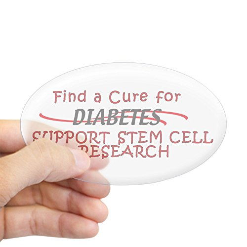 CafePress FIND Cure for Diabetes, STEM Cell Research Sticker Oval Bumper Sticker, Euro Oval Car -