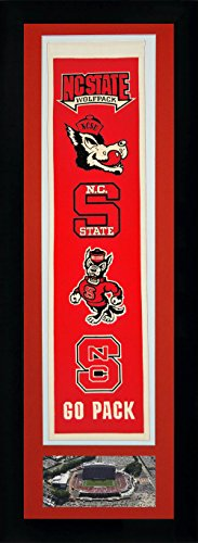 (Legends Never Die NCAA North Carolina State Wolfpack Team Heritage Banner with Photo, Team Colors, 15