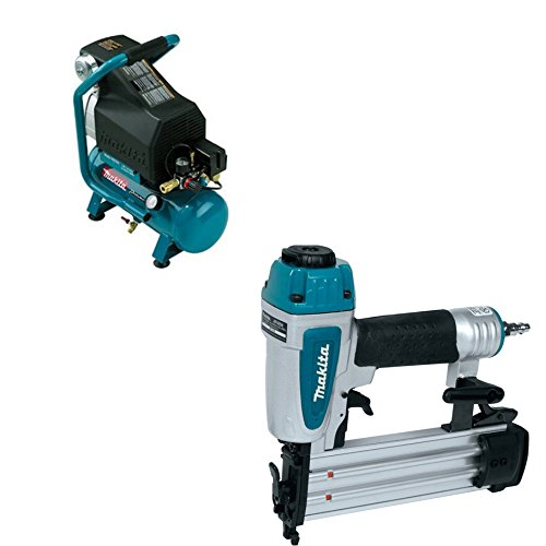 Makita MAC700 20 HP Air Compressor & Makita AF505N 2' 18 -Gauge Brad Nailer