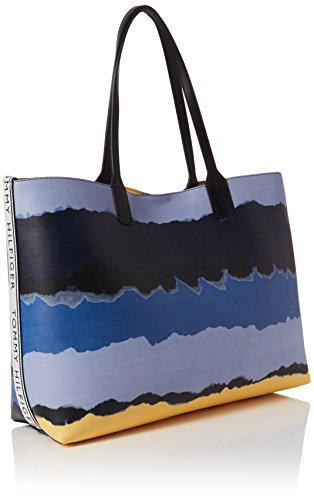 Blue Tommy Iconic Womens Tie B Shoulder cm Bag 5x42 14x31 Dye Tote T x H Print Hilfiger 5 05rnwSFRq0
