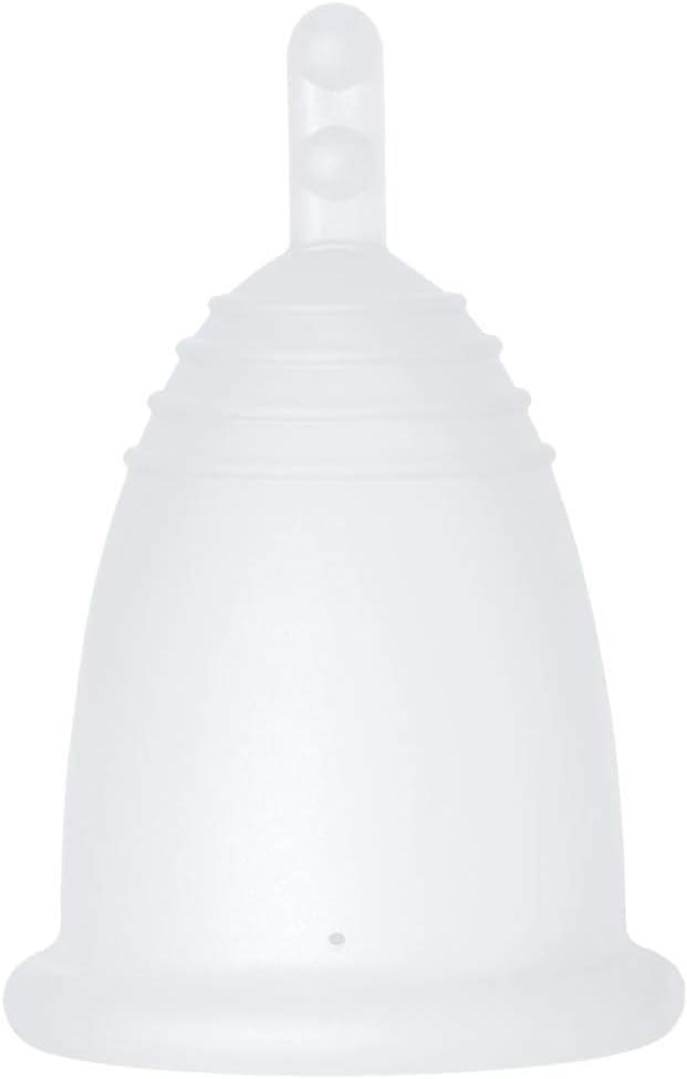 MeLuna Classic Copa Menstrual, Palito, Transparente, Talla S - 1 Unidad