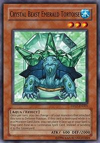 Yu-Gi-Oh! - Crystal Beast Emerald Tortoise (DP07-EN003) - Duelist Pack 7 Jesse Anderson - 1st Edition - Common (Crystal Beast Tortoise Emerald)