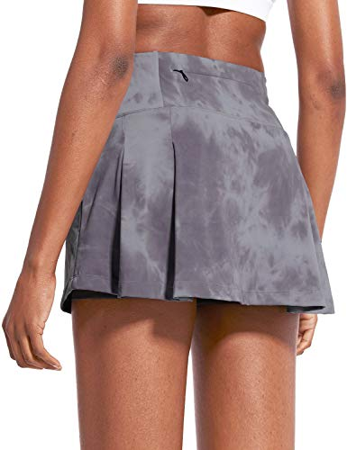 "BALEAF Women's 13"" High-Waisted Tennis Skirts Pleated Mini Athletic Skorts with 4 Pockets for Golf Running Workout Skater"