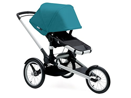 Bugaboo 2015 Runner Stroller Complete Set with Petrol Blue Canopy with Bee Adapter