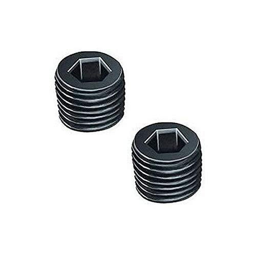 Pair 1/8' BSPT BSP PT Pipe Thread Allen Socket Head Plug Black Steel Dynapex