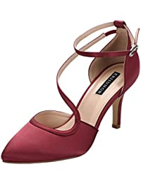 Women Comfortable Low Heel Ankle Strappy Dress Pumps...