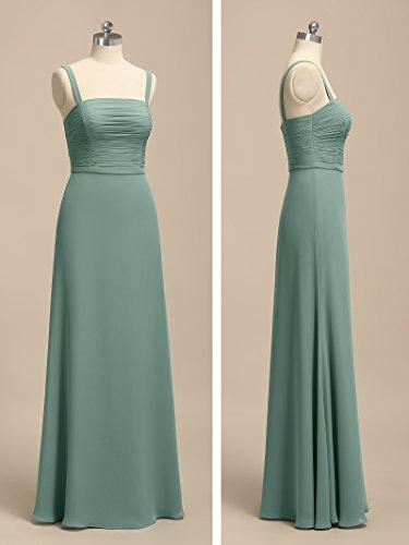 Alicepub Women Dresses Sleeveless Formal Strap Maxi Spaghetti Bridesmaid Green Mint for Dress fwSWgqfrn