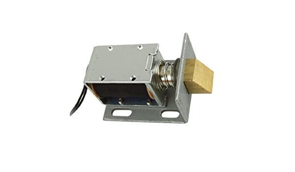 eDealMax DC 12V tipo abierto del solenoide del capítulo Para la ...
