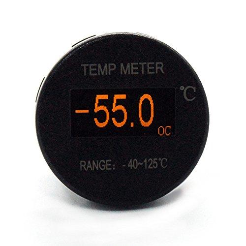 Etbotu Mini OLED DC 12V/24V Digital Thermomete OLED Schirm PC Shell 40~125 ℃ Temperatur Messgerä t Meter Zusatz Thermometer fü r Auto Motorrad