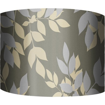 12 drum lamp shade golden leaves dark 12l x 12w x 9h 12quot drum lamp shade golden leaves dark 12quot aloadofball Images