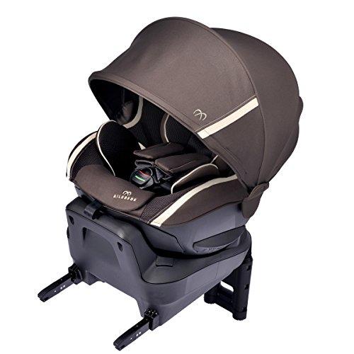 カーメイト エールベベ クルット3i グランス 新生児から4歳用チャイルドシート ISOFIX取付(ナチュラルフラット仕様360度回転型) アンバーブラウン BF851