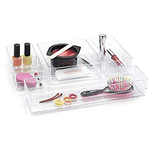 Plastic Forte Cosmetic Boxes and Organizers, Plastic, Clear