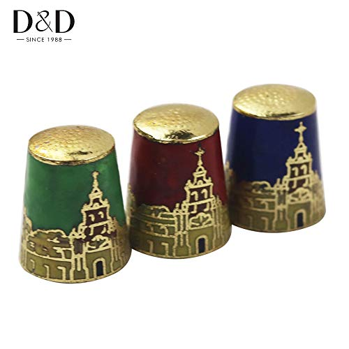ShineBear Random 1pc New Style Cloisonne Ornaments Craft Sewing Thimble Finger Protector Sewing Accessories Nice Gift&Collection