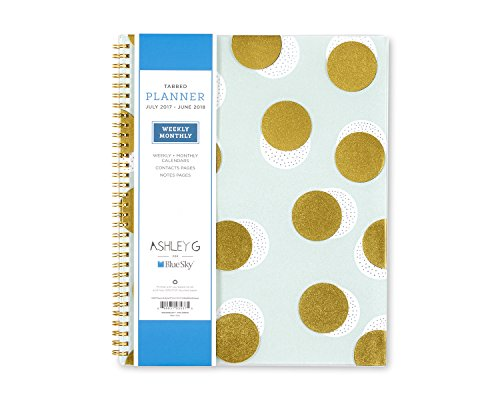 "Ashley G for Blue Sky 2017-2018 Academic Year Weekly & Monthly Planner, Twin-Wire Bound, 8.5"" x 11"", Big Dot Design -  Blue Sky the Color of Imagination, LLC, 103537"