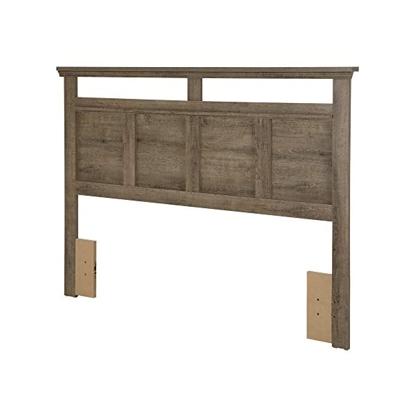 South Shore Versa Headboard Weathered Oak, Traditional