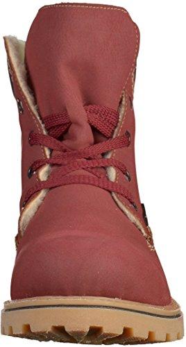 Rieker Z1420, Botas para Mujer Rojo (Vino/navy/kastanie)