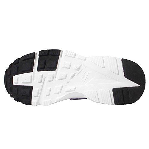 Nike Mädchen Huarache Run (GS) Laufschuhe, Schwarz Weiß (Blanco (White / White-Hypr Vlt-Crt Prpl))