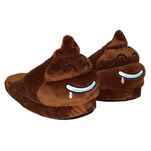 and Women Emoji Creative Men Funny Slippers Expression XILALU Indoor Shoes Face A Plush 40q54w