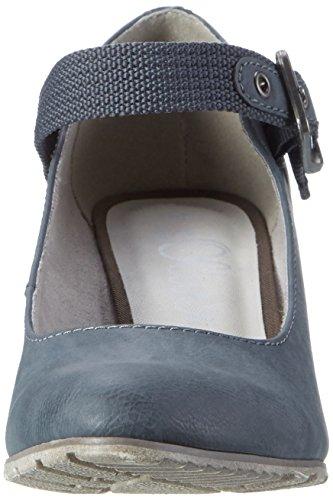 s.Oliver 24406 - Sandalias con plataforma Mujer Azul (DENIM 802)