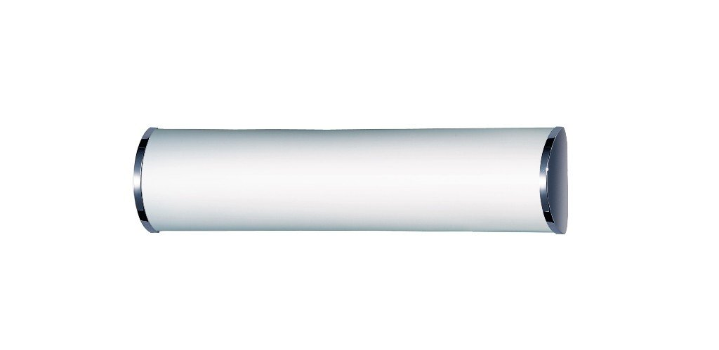 Steinel BRS 66 L - Lámpara con sensor de movimiento para baño, ópalo y cromado