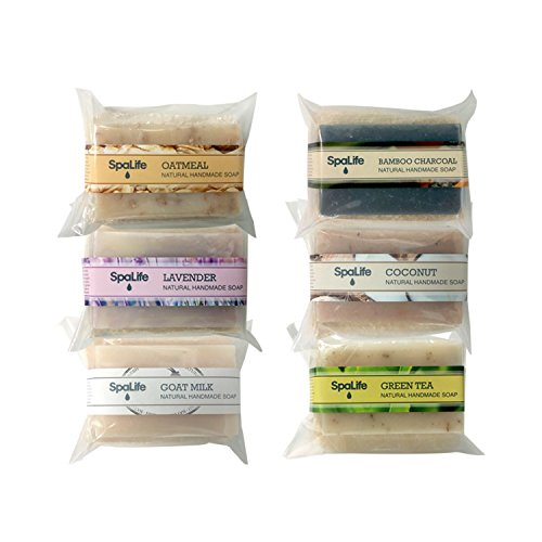 SpaLife Hand Made Soap Set - Handmade - 6 Pack - 3.5oz Each (Loofah) ()