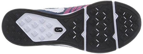Nike Flyknit Trainer + Herren Sneaker Squadron Blu / Bianco-rosa Flash