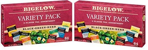 Bigelow Tea Fine Tea And Herb Tea Gift - 2 Pack (128 Tea Bags) 3.85 oz