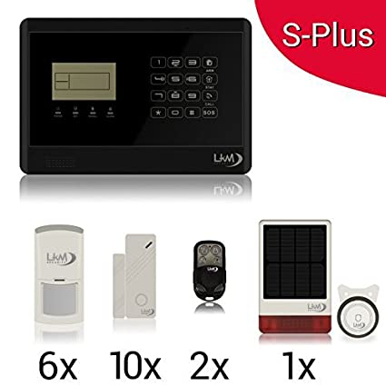 KIT Solar Plus M2E Antifurto Allarme Casa Kit Wireless Senza Fili ...