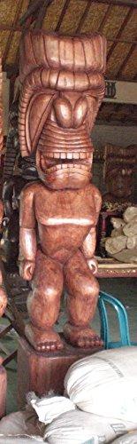 Ku Tiki Mask (HAWAIIAN TIKI KU - 8 FEET - POLYNESIAN CULTURAL CENTER - OUTDOOR ISLAND DECOR)