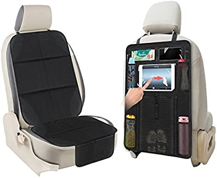 Transparent Car Seat Back Cover Anti Dirty Kick Guard Protector Pad Mat Black