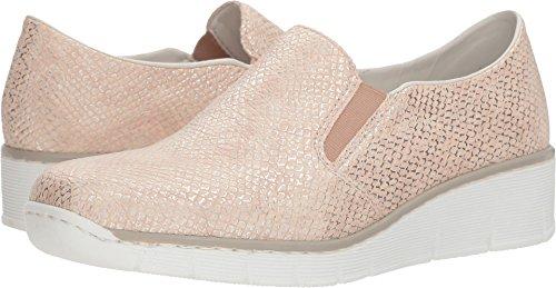 Rieker Women's 53750 Rose/Silver 39 M (Silver Pink Footwear)