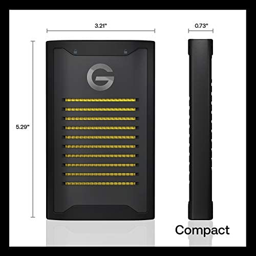 G-Technology 2TB ArmorLock Encrypted NVMe SSD High Grade Security Performance External Storage - USB-C (USB 3.2), Up to 1000 MB/s - 0G10484-1