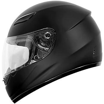 Duke Helmets DK-110 Full Face Motorcycle Helmet, Medium, Matte Black