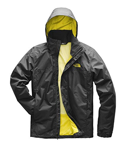 The North Face Men's Resolve 2 Jacket - Asphalt Grey & Acid Yellow - S ()
