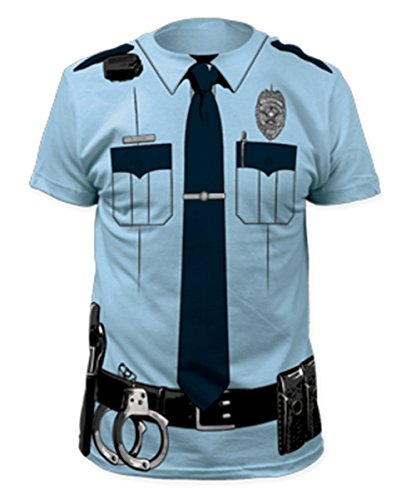 [Police Officer T-Shirt Costume-Mens XL] (Police Officer Costume Shirt)