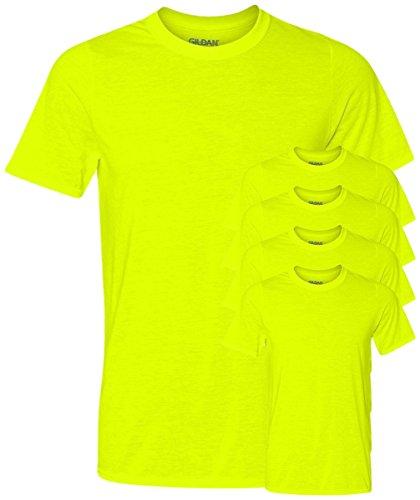 Gildan Mens Core Performance T Shirt  Safety Green  Xl   Pack5