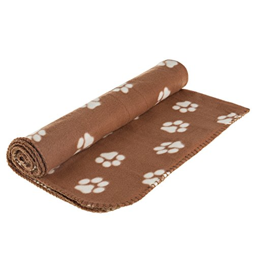 Ultra Light Comfortable Soft 55 x 39 Inches Fleece Pet Dot Cat All Year Round Blanket Animals Puppy Kitten Bed Warm Sleep Mat Fabric Indoors Outdoors