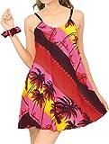 LA LEELA Women Camp Hawaiian Boyfriends Shirt Ladies Beach Blouses Tops Printed