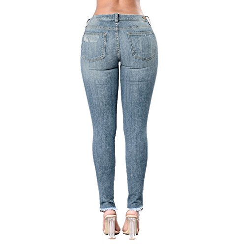 Blue Pieds Femme Jeans Light Stretch Coton Grossartig Bicolore en Tx1wqX8
