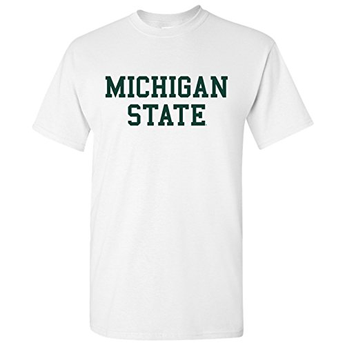 AS01 - Michigan State Spartans Basic Block T-Shirt - Large - White