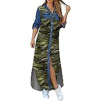 Dames Blouse Jurk Lange Mouw Jurken Lang Casual T Shirt Overhemd Losse Button Down Top Shirts Tunieken Damesjurken…
