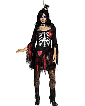 Fun World - Disfraz de Voodoo para Mujer con Encaje del día de los Muertos, Talla Extragrande